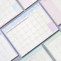Lovely floral mensual papel 20 hojas 21*28.5 cm DIY planificador mensual escritorio agenda regalo escuela Oficina suministros envío libre