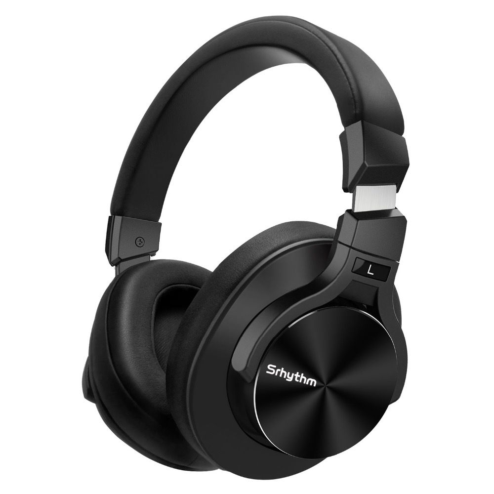 Noise Cancelling Headphones Bluetooth wireless Earphones deep Bass ANC Foldable Over ear Stereo headset with microphone srhythm