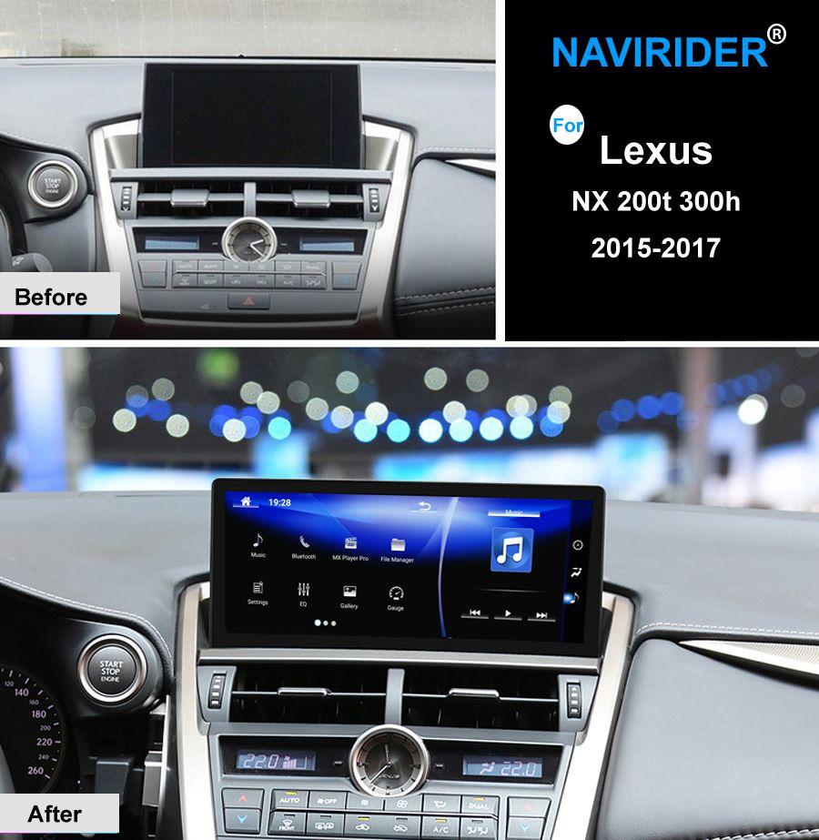 10,25 zoll octa core NAVIRIDER Android 7.1 Auto Radio WiFi GPS Navigation BT Kopf Einheit Touch Screen für Lexus NX 200 t 300 h nx200T