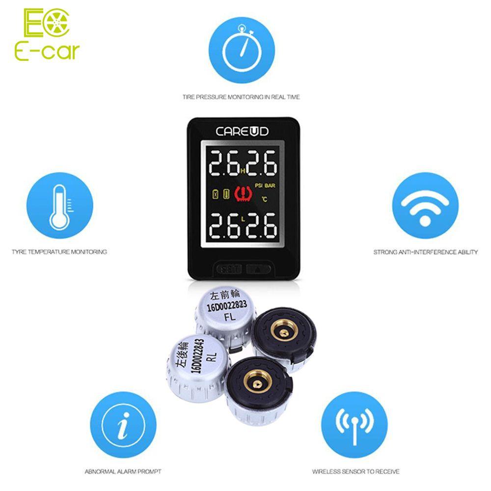 Tragbare 4 Externe Sensoren Auto TPMS U912 Tire Pressure Monitoring Alarmanlage Auto PSI BAR Auto Reifen Diagnosewerkzeug für Toyota