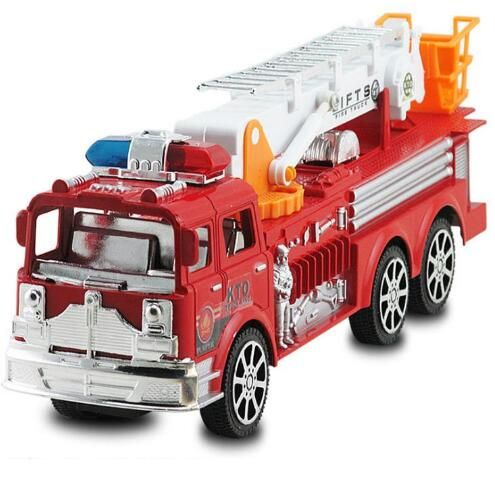 2018 new children's toy car large inertia simulation fire truck ladder model toys