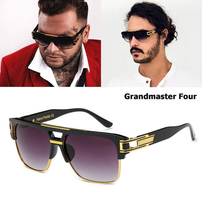 JackJad nouvelle marque De mode Design Grandmaster quatre lunettes De soleil hommes Vintage rétro Hip Hop Style lunettes De soleil Oculos De Sol Masculino