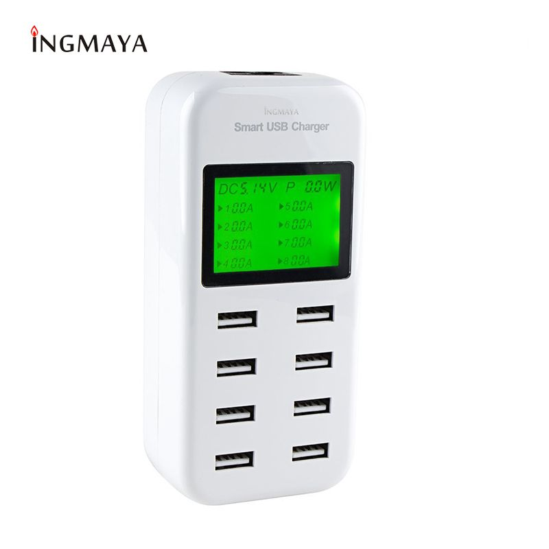 Chargeur USB INGMAYA 8 ports chargeur LED 5V8A pour iPhone iPad Samsung Huawei Xiaomi Oneplus adaptateur secteur LG
