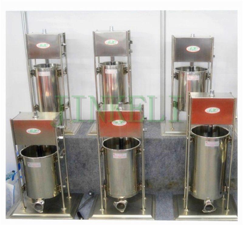 18 kommerziellen Elektrische Wurst stuffer 15L Wurst füllung maschine Automatische edelstahl Wurst füllstoff 220 V mit 4 trichter