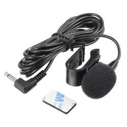 LEORY 2.5m Omnidirectional Metal Microphone 3.5mm Jack Lavalier Tie Clip Microphone Mini Audio Mic for Speech Leture