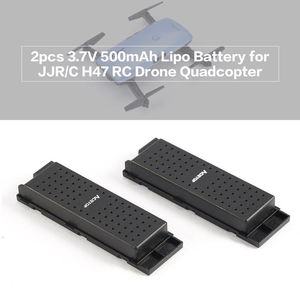 Original JJRC 2pcs 3.7V 500mAh Rechargeable Lipo Battery for H47 Drone RC Quadcopter Part Wifi Selfie Elfie Drone Accessories