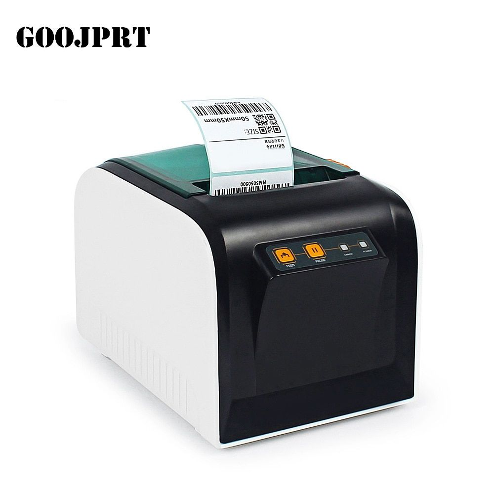 Original GOOJPRT JP-3100TU Thermische Label Drucker 80mm 101,6 mm/s Aufkleber Druck Maschine W/USB Port für Verschiffen Empfang drucken