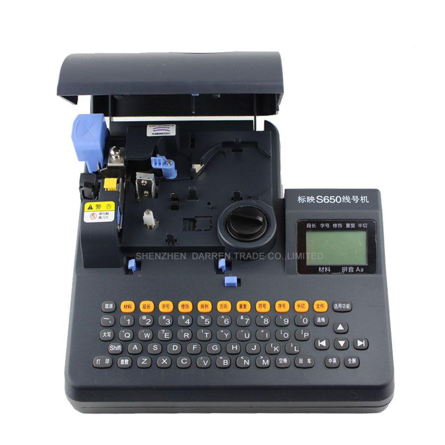 Englisch Version PVC Rohr Drucker S-650 Schrumpf Kabel Drucker Kabel Kennzeichnung Maschine