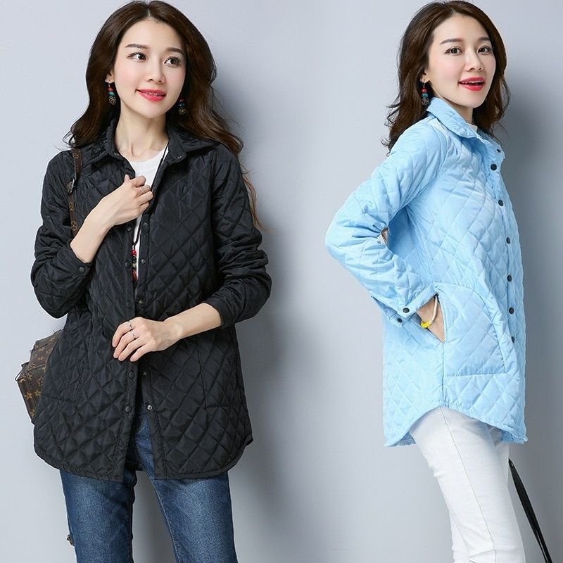 fashion Padded Cotton casual loose autumn winter jacket women Coat 2017 outerwear