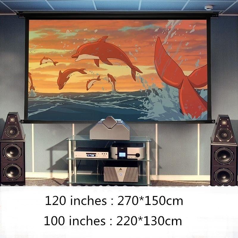 Мягкая складная 16:9 HD 84 100 120 дюймов проектор Экран Волокно холст Шторы для проектора Плёнки дома Театр открытый