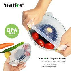 WALFOS 1 шт. пищевая упаковка для свежих продуктов многоразовая высокоэластичная силиконовая пищевая упаковка s герметичная Вакуумная крышка ...