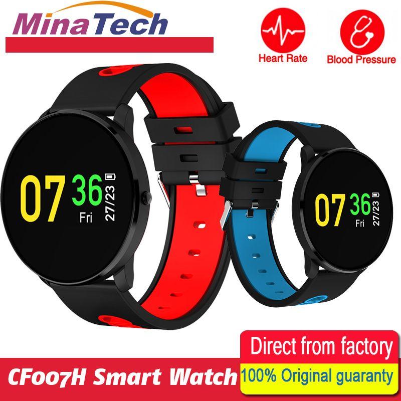 Color screen CF007H Smart Bracelet Heart Rate Monitor Blood Pressure Monitor SMS Notification Smart Band sport band PK DM58 K88H