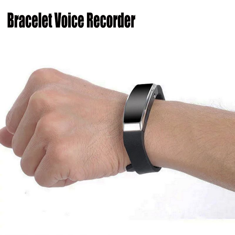 Wristband Bracelet Voice Activated Recording 8GB Digital Voice Recorder Sound Audio Recorder MP3 Player USB Mini Dictaphone Pen
