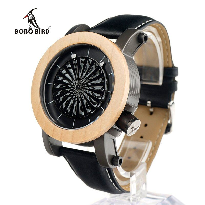 BOBO BIRD M07 Antique Kinetic Art Mechanical Watch Luxury Brand For Men With Skeleton hollow-out design Waterproof With Wood Box