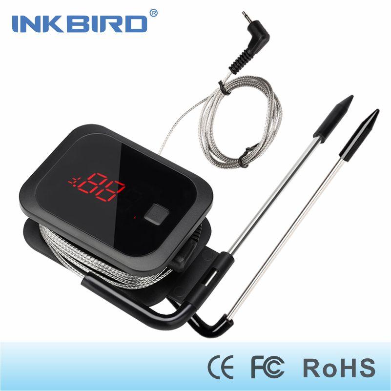 Inkbird Nourriture Cuisson Bluetooth Sans Fil BBQ Thermomètre IBT-2X Avec Sondes Doubles et Minuterie Pour Four Grille-Viande gratuit app contrôle