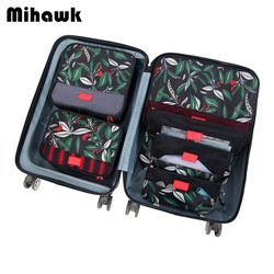 Mihawk 6Pcs/set Packing Cube Travel Bags Portable Large Capacity Clothing Sorting Organizer Luggage Accessories Supplies Product
