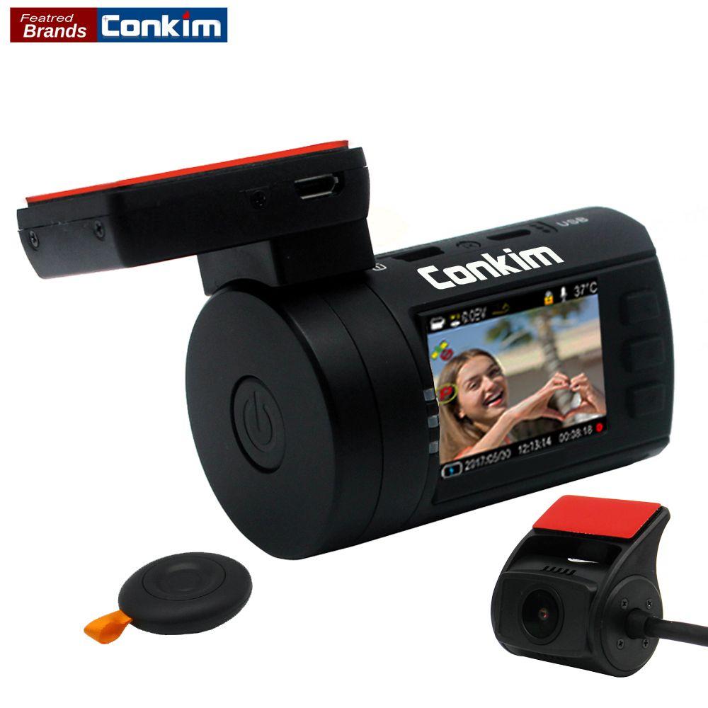 Conkim Mini 0906 Deux Caméra GPS De Voiture DVR Greffier 1080 P Plein HD Vue Arrière Caméra Condensateur Double Lentille DVR Parking Capteur Garde