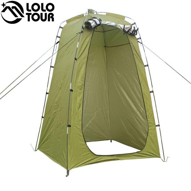 Léger Portable Camping Douche tente auvent toile pliage Extérieure Toilettes Confidentialité Chambre montrant Changer de vêtements tente blanc