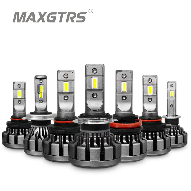 MAXGTRS voiture phare LED H4 H7 H8 H11 H16 JP 9005 9006 HB3 9012 Canbus Lumi LED s puce Auto remplacer Source lumineuse conduite ampoules