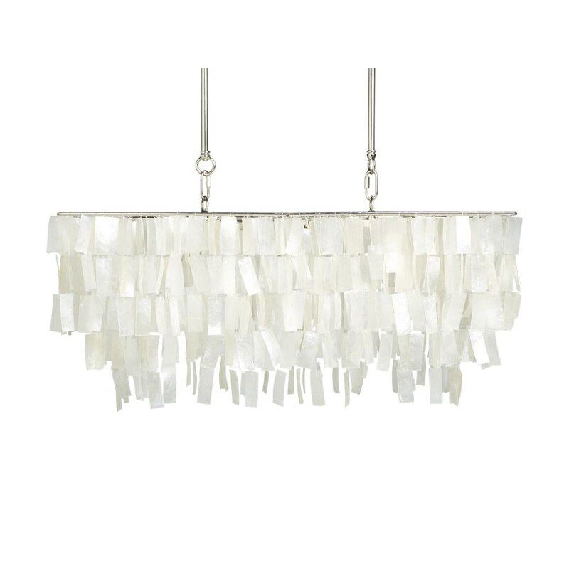 LED Kronleuchter Capiz Shell Rechteck Moderne Lampe Loft Esszimmer