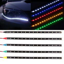Водонепроницаемая Автомобильная декоративная гибкая светодиодная лента высокой мощности 12 в 30 см 15SMD Автомобильный светодиодный дневный х...