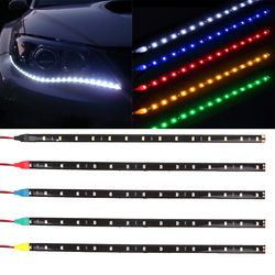 Imperméable à l'eau De Voiture Auto Décoratif Flexible LED Bande HighPower 12 V 30 cm 15SMD Voiture LED Daytime Running Light Car LED Lumière de Bande DRL