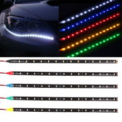 Waterproof Car Auto Decorative Flexible LED Strip HighPower 12V 30cm 15SMD Car LED Daytime Running Light Car LED Strip Light DRL