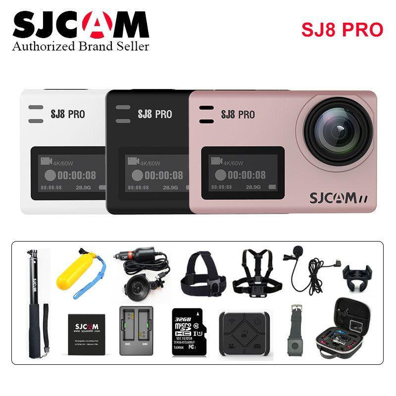 SJCAM SJ8PRO Anti-Schütteln Dual Touch Screen Remote Sport Action Kamera WiFi 4 K 60fps Tauchen 30 M Wasserdichte ambarella H22 SJ 8 PRO