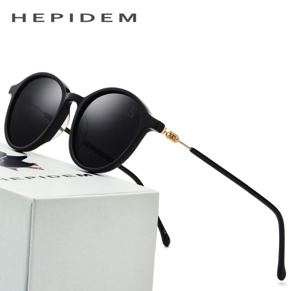 Acetate Sunglasses Men Polarized Brand Designer 2018 New Oliver Round Korean Sun Glasses for Women Peoples Screwless Eyewear