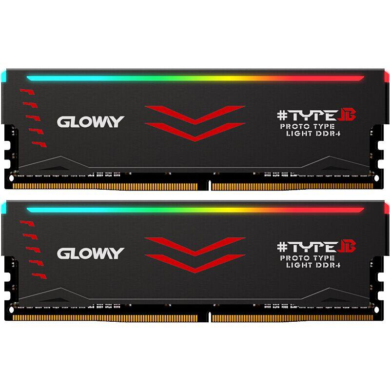 Gloway Type B series DDR4 8gb*2 16gb 3000mhz RGB RAM for gaming desktop dimm with high performance memoria ram