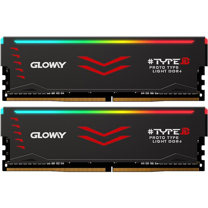 RAM RGB Gloway de Type B série DDR4 8 gb * 2 16 gb 3000 mhz pour bureau de jeu dimm avec mémoire vive haute performance