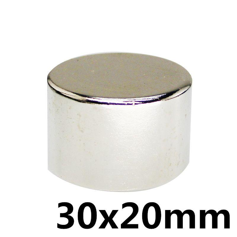 1 pièces rond solide 30x20mm N35 aimant permanent de néodyme de terre rare aimant néodyme fer bore aimant aimant fort 30X20 MM