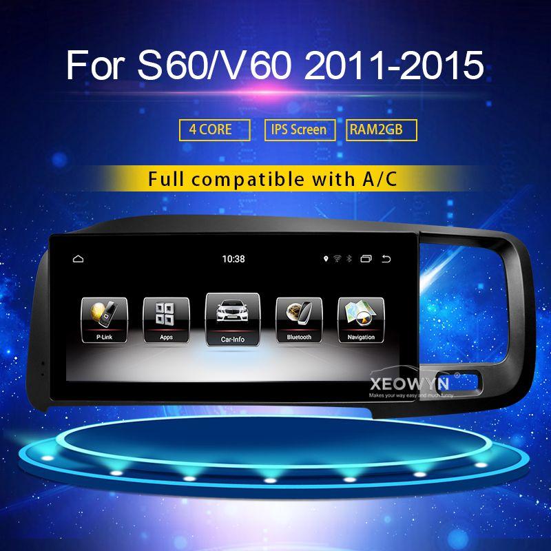 8,8 zoll RAM2G Android 7.0 PX3 Auto Radio Stereo Für Volvo S60 V60 xc60 2011-2015 GPS Unterstützung reise informaiton full touch