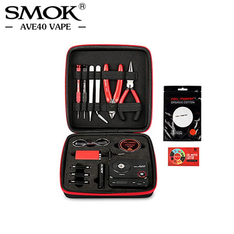 Original CoilMaster V3 kit New Tool bag E Cigarette Accessories All-in-one DIY Device rebuild Wire for RDA RDTA Tank Atomizer