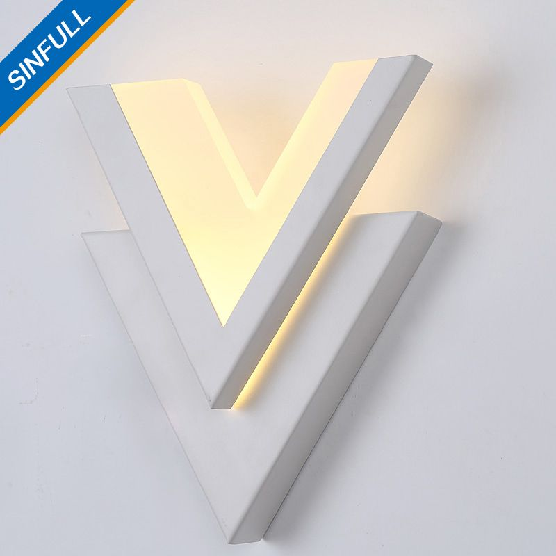 SINFULL Modern Brief Led 9w Wall Lights Acrylic Bedside Wall Sconces Stair bedroom asile balcony 90-260V lighting lamps