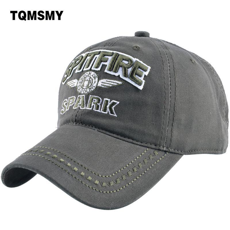 TQMSMY Denim Snapback chapeaux hommes été lettre SPITFIRE noir femmes casquette de Baseball armée Sunblock Beisbol Hockeys casquettes TMBS03