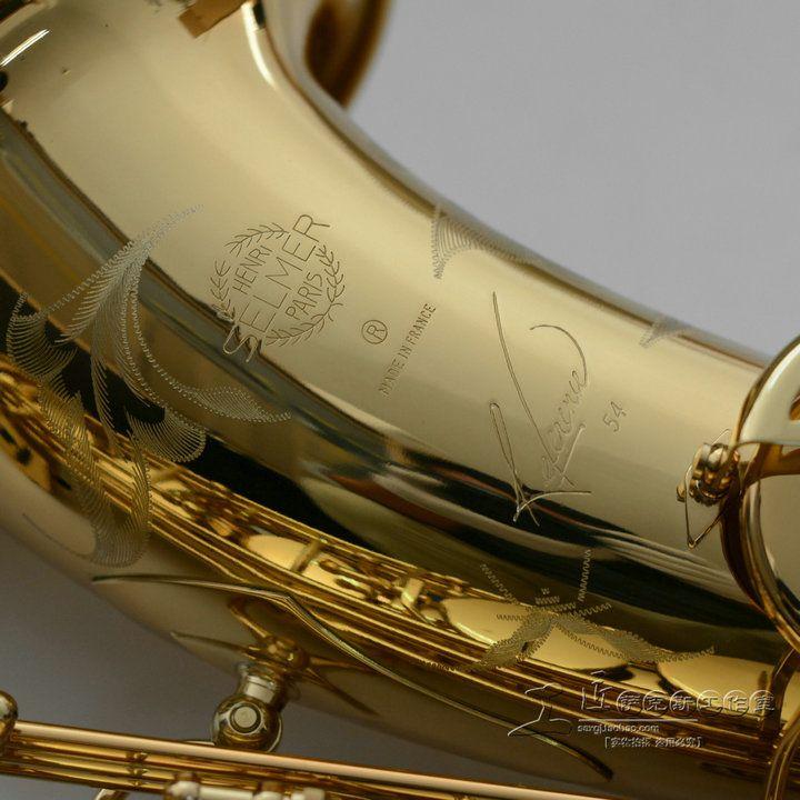 Selmer near Mint 97% Оригинал золотой лак Саксофон тенор Bb sax изогнутые профессиональных BB sax с мундштуком, Перчатки, Reeds, чехол