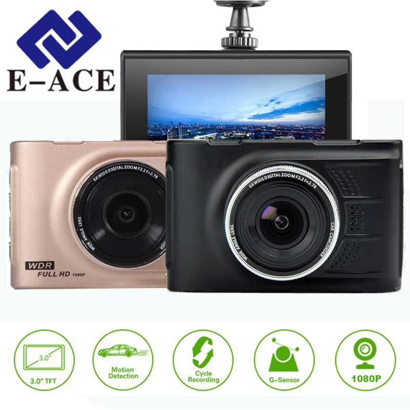 E-ACE Automotivo Novatek Car Dvr Mini Camera Car Video Recorder Mirror Camcorder Dash Cam Full HD 1080p 3.0 Inch Dvrs Car Carcam