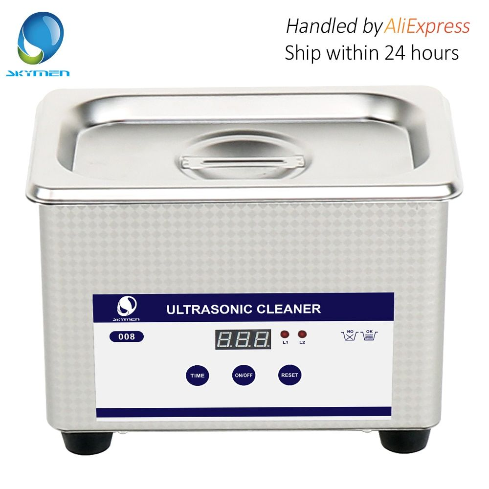 Skymen 800ml Stainless Steel Ultrasonic Cleaner Bath Digital Ultrasound Wave Cleaning Tank for Coins Nail Tool Part