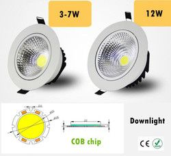 Dimmable Led downlight lumière COB Plafond Spot Light 3 w 5 w 7 w 12 w 85-265 V plafond encastré Lumières Éclairage Intérieur