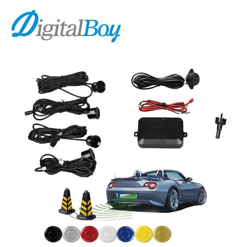 Digitaboy Car Parking Assistance with 4 Sensors Car Reverse Backup Radar Buzzer Sound Alert Indicator Probe Car Parktronic