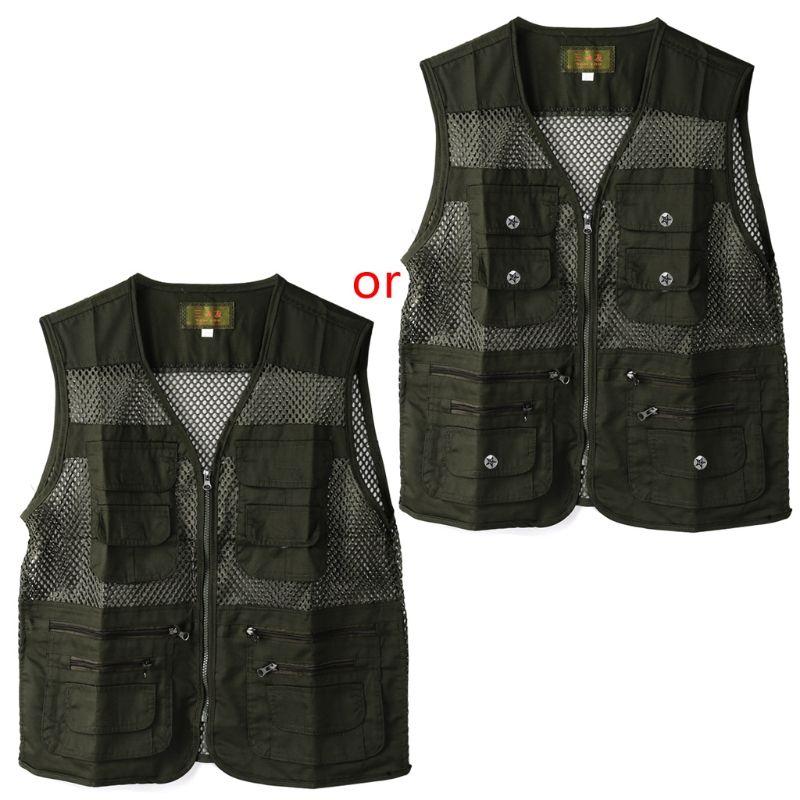 Fishing Vest Summer Outdoor Men Hiking Multi Pocket Waistcoat Photography Jacket M08 by randomly