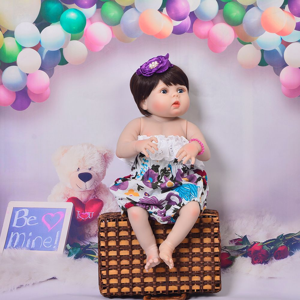Lifelike 23'' 57 cm Reborn Dolls Full Silicone Body Newborn Girl Babies Doll With New Face Style Children's Day Gift Playing Toy