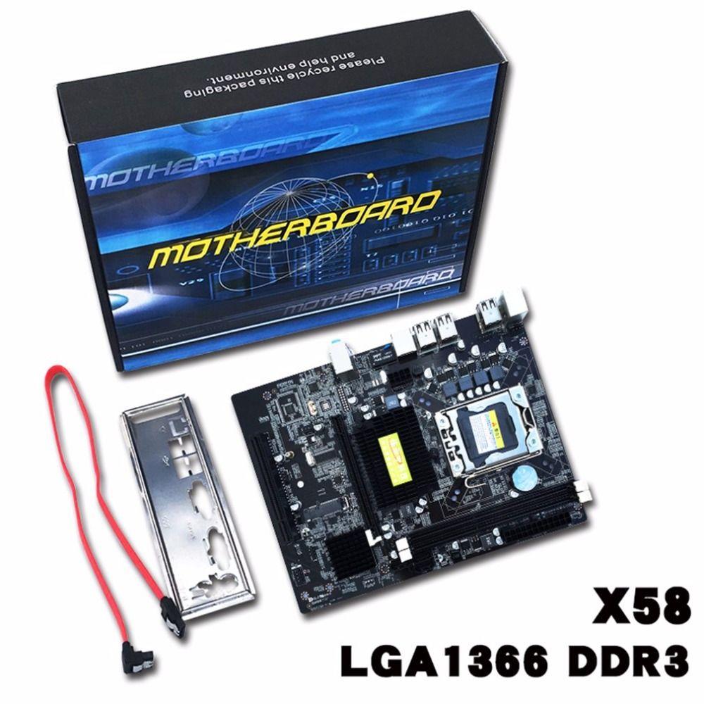 X58-1336 Motherboard LGA1366 Unterstützung Ddr3-speicher USB2.0 24/7 SATA 3 Gb/s Stecker