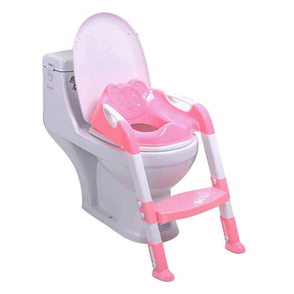 Foldable Baby Potty Training Chair With Adjustable Ladder Children'S Potty Baby Toilet Seat Infant Toilet Training Folding Seat