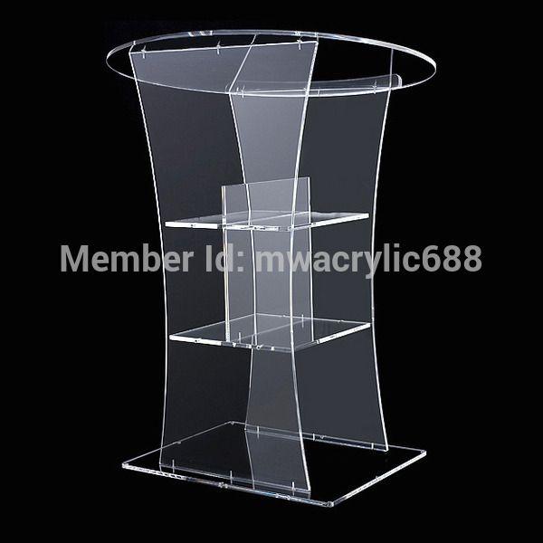 Kanzel furnitureFree Verschiffen Transparent Modern Design Billig Klaren Acryl Lecternacrylic kanzel