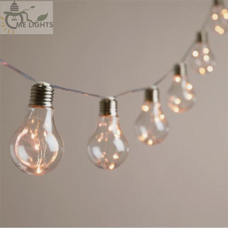 4M 10 Vintage Bulbs LED Garland String Fairy Lights Festoon Party Lights for Home Events Garden Party Xmas Wedding Decoration