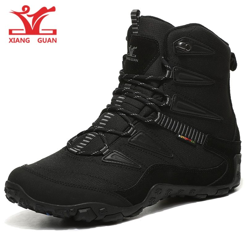 new arrival XIANG GUAN high top lover SNOW BOOTS black and white trekking shoes brand lace-up men outdoor climbing sneakers