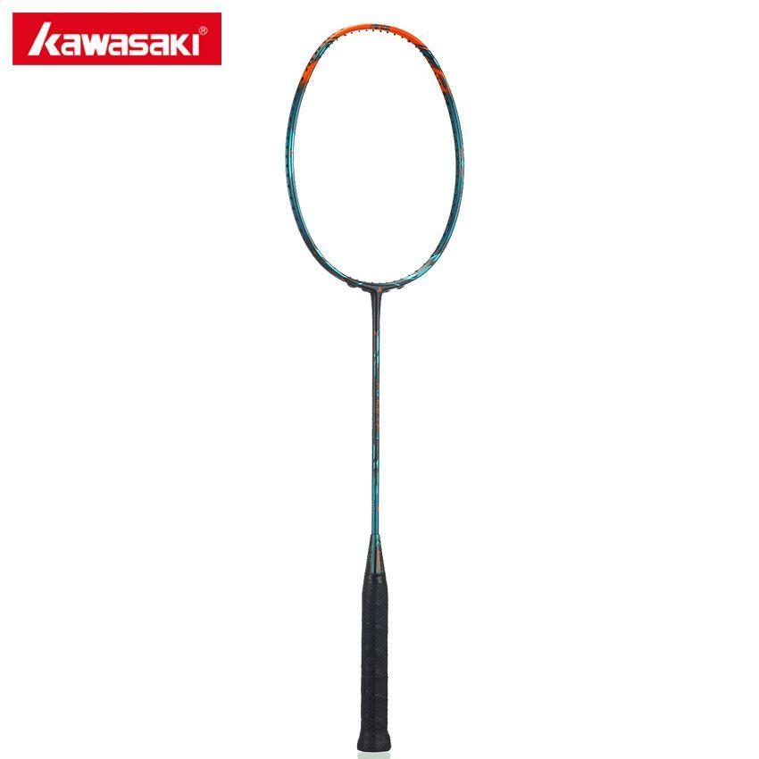Kawasaki Marke Badmintonschläger Kraft F9 Offensive Typ 46 T Carbon Tennisschläger Box Rahmen für Professionelle Spieler