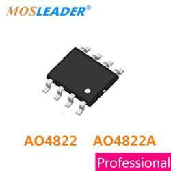 Mosleader 200PCS SOP8 AO4822 AO4822A 4822 Without ESD protected 30V Dual N-Channel